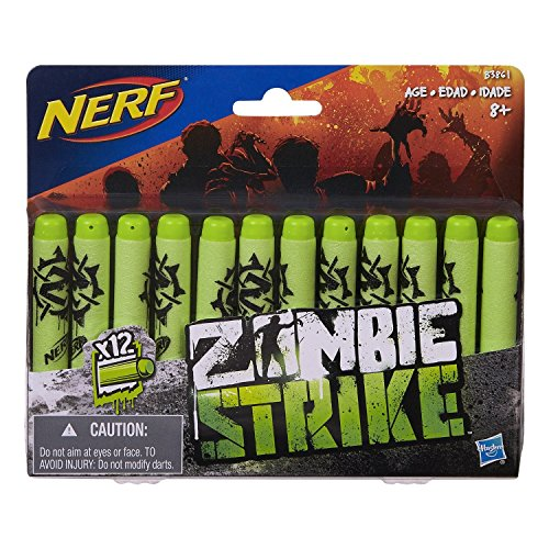 Price comparison product image Nerf Green Zombie Strike Foam Darts (24 Total Darts - 12 Count - Pack of 2)
