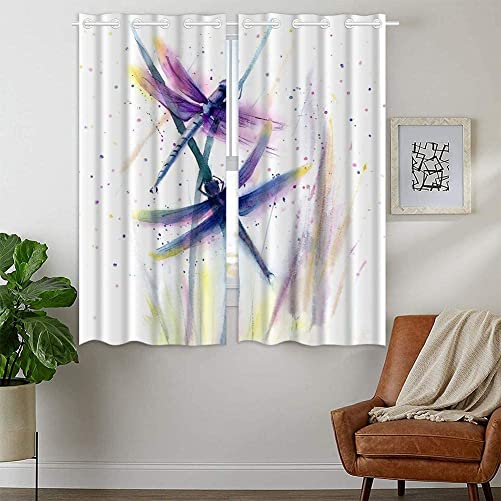 XSMEI Dragonfly Grommet Curtains