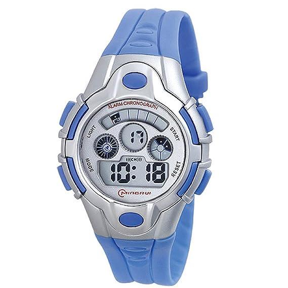 tabla electrónica multifuncional de los niños/Primaria impermeable luminoso digital reloj deportivo-I: Amazon.es: Relojes