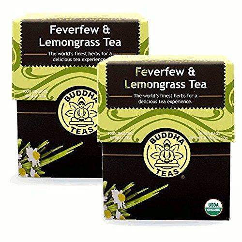 (Feverfew & Lemongrass Tea - Organic Herbs - 2 Pack (36 Tea Bags))