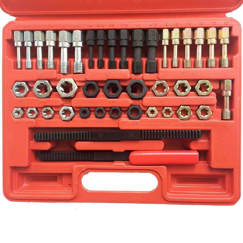 Ctool Universal 42Pcs Re Threading Tool Set Kit Metric Sizes UNF and UNC Fractional and Metric Thread Restorer Kit by Ctool (Image #8)