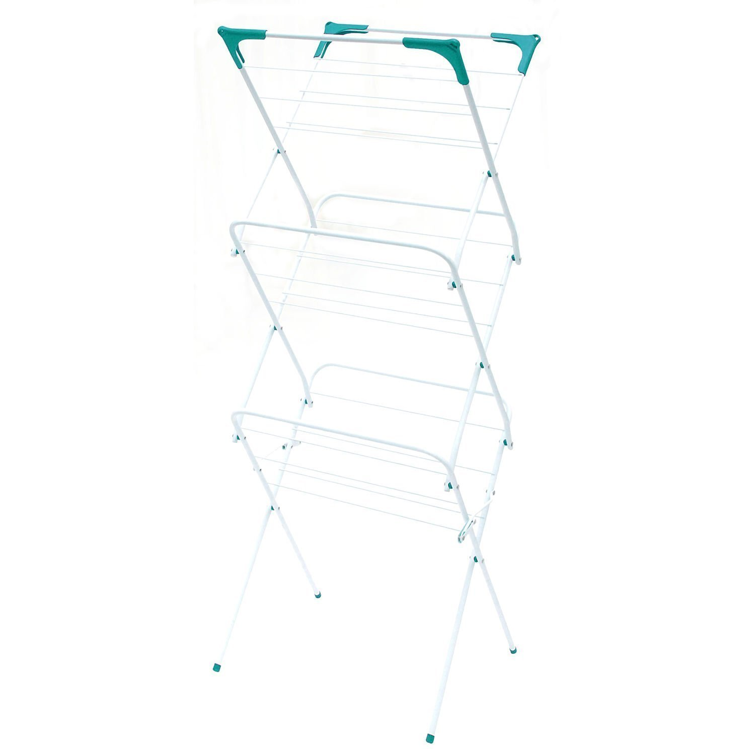 3 TIER CLOTHES AIRER LAUNDRY DRYER CONCERTINA INDOOR OUTDOOR PATIO HORSE TOWEL MASCARELLO