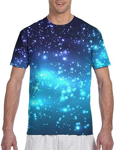 Hombres - Camisa Dark Night Sky con Estrellas y Galaxia ...