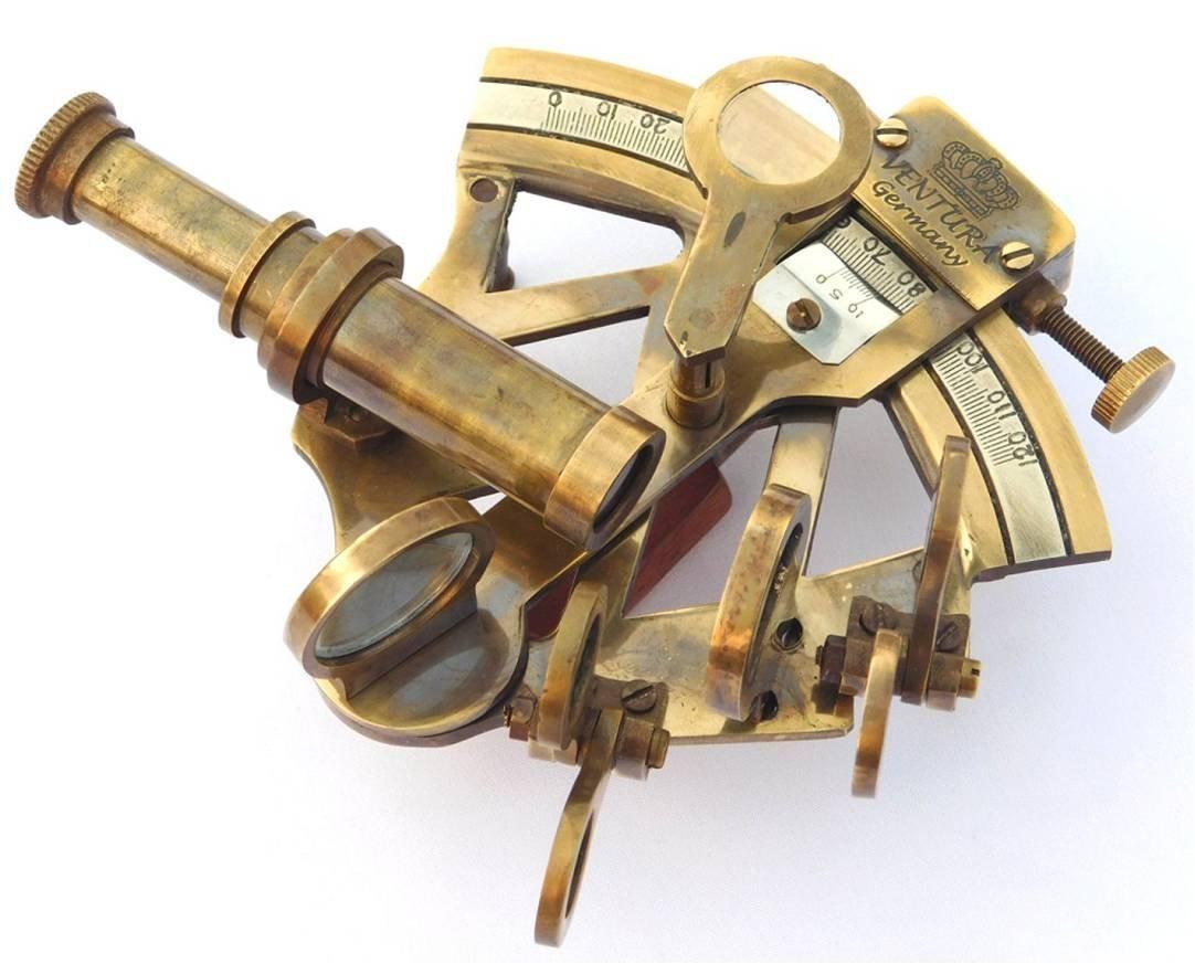 Neovivid Solid Brass Sextant Nautical Maritime Astrolabe Marine