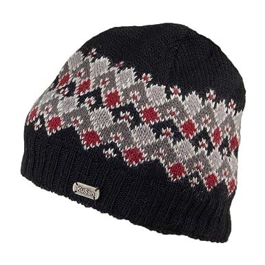 dc784bd3b0566b Kusan Hats Fine Gauge Brooklyn Beanie Hat - Black 1-Size: Amazon.co.uk:  Clothing