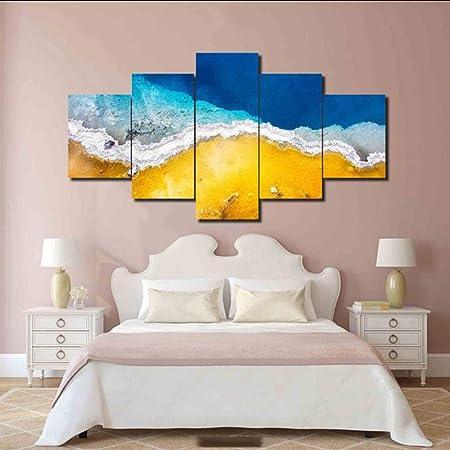 sshssh Sin Marco Moderno Lienzo Abstracto Playa Playa HD ...