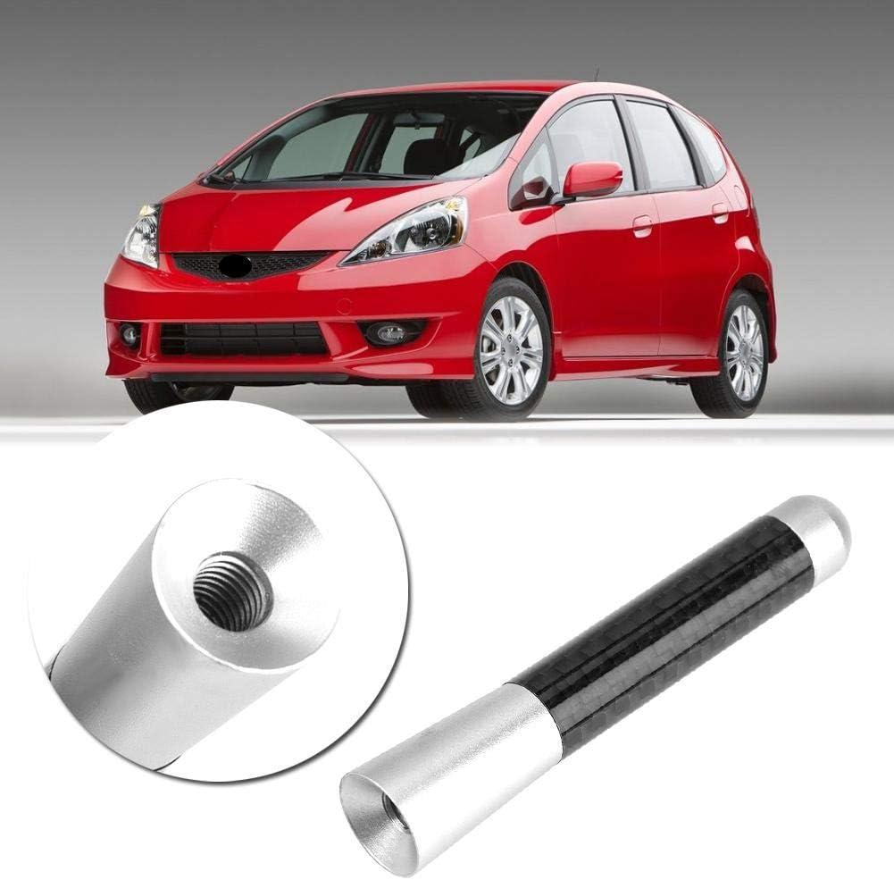 argento EBTOOLS Antenna sostitutiva per antenna auto con antenna a vite in fibra di carbonio da 3per modifica auto universale