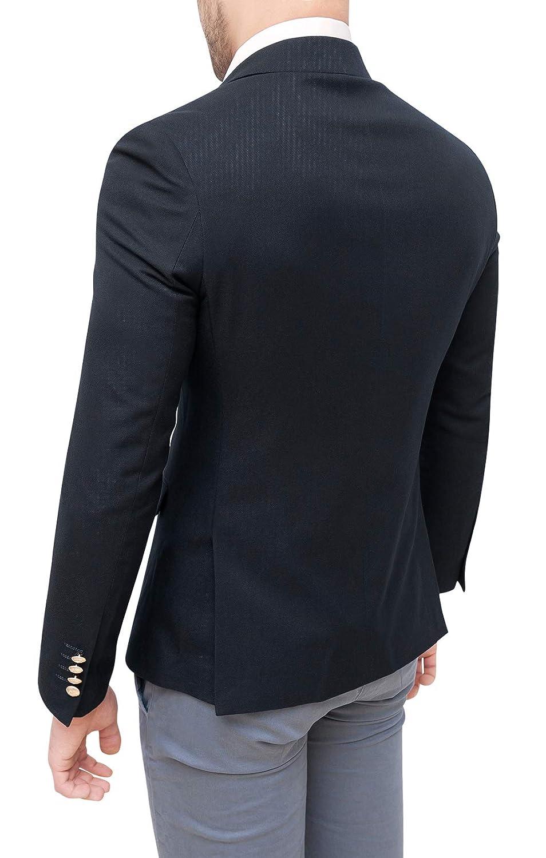 Evoga Veste Homme Vestimentaire Crois/é Blazer Hivernal Slim Fit /Él/égant