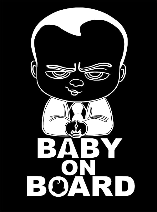 Boss Baby on Board Funny Car Decals Sticker Decoratice