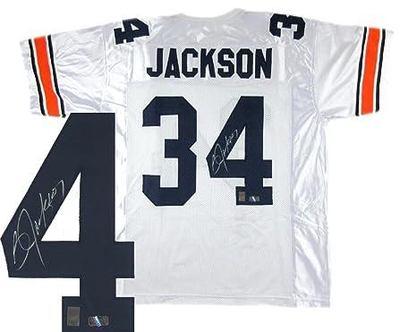 best website 87b79 bde83 Signed Bo Jackson Jersey - White Custom - Autographed ...