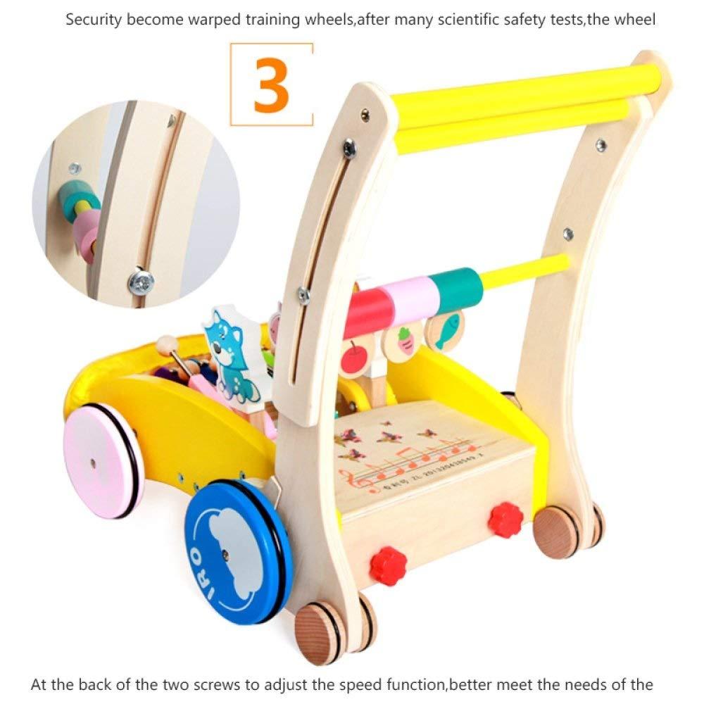 Amazon.com: KJRJZB Baby Multifunction Walker Push Toy Wooden ...