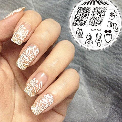 (HCFKJ DIY Fashion Nail Art Stamping Plate Manicure Stamp Template Stamping Tool B)