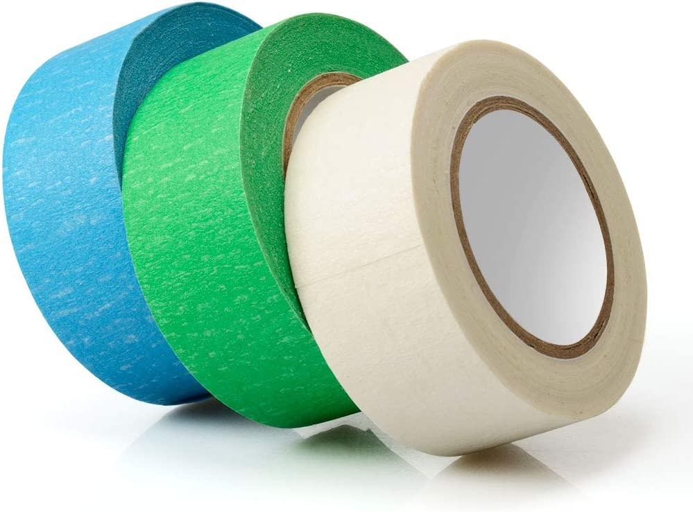 25mm x 15m Colored Masking Tape,10 Pcs Colored Painters Tape with Rainbow Colors for Kids Craft Art Projects in 1 Inch x 48ft 10 Color Labelling or Coding Rolls