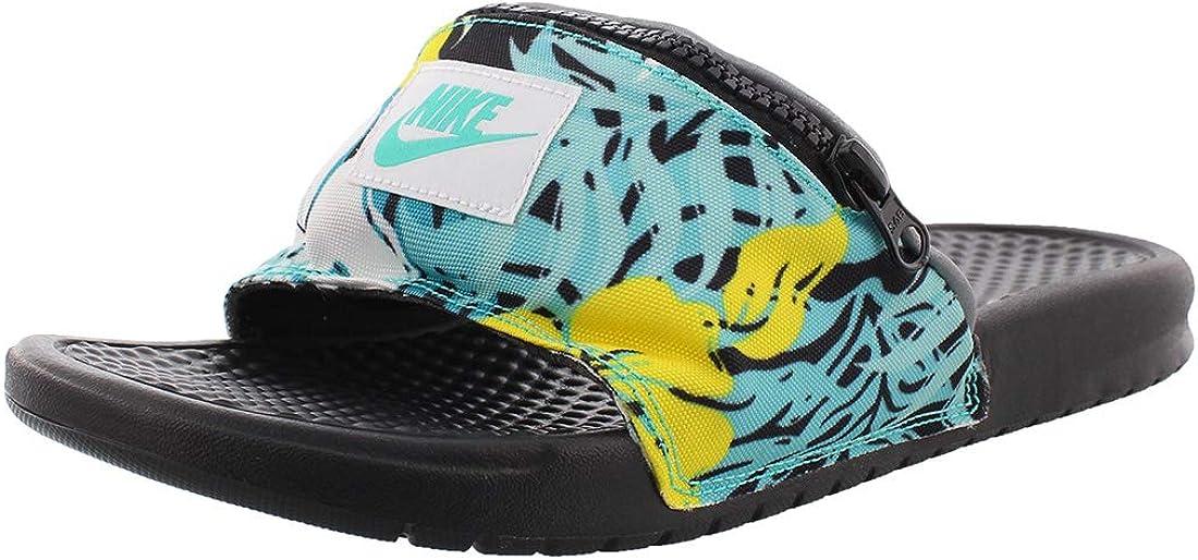 Chanclas Nike Benassi JDI Fanny Pack Print Turquesa 46: Amazon.es: Zapatos y complementos