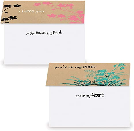 thinking of you Recycled Kraft Paper Cards Succulents just because blank cards Five Handmade Greeting Cards