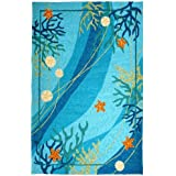 Homefires Rugs Indoor Outdoor Underwater Coral and Starfish by Robin Pickens - 3' x 5'