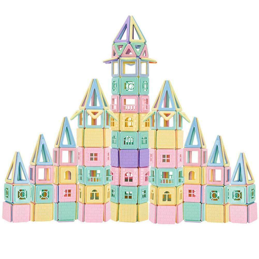 DINGX Bloc de Construction Magnétique Enfant, Mini Tuyau Jeux Construction Aimanté Jouet Educatif et Créatif Cadeau Anniversaire Fête pour Les Petits