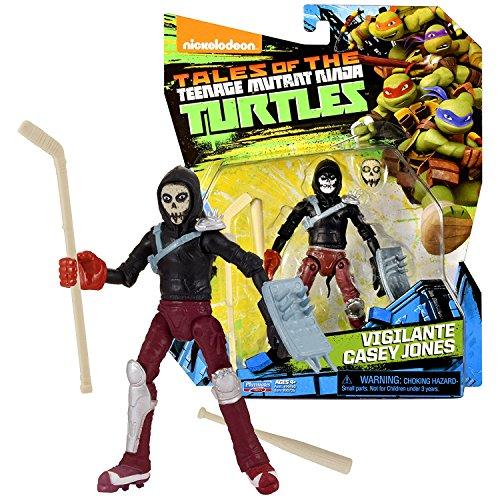 Playmates Year 2017 Tales of the Teenage Mutant Ninja Turtles TMNT Series 5 Inch Tall Figure - VIGILANTE CASEY JONES with Mask, Bat and Hockey Stick ()