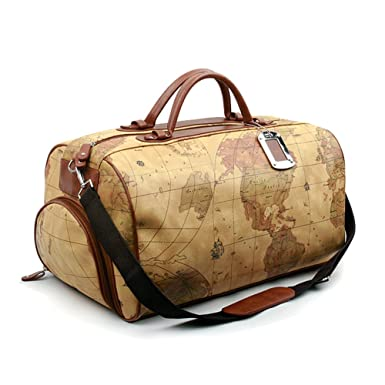Image Unavailable. Image not available for. Color  NOONDAY World Map Large  Duffle Bag Travel Tote Luggage Boston Style 97f7bfcaec0c3