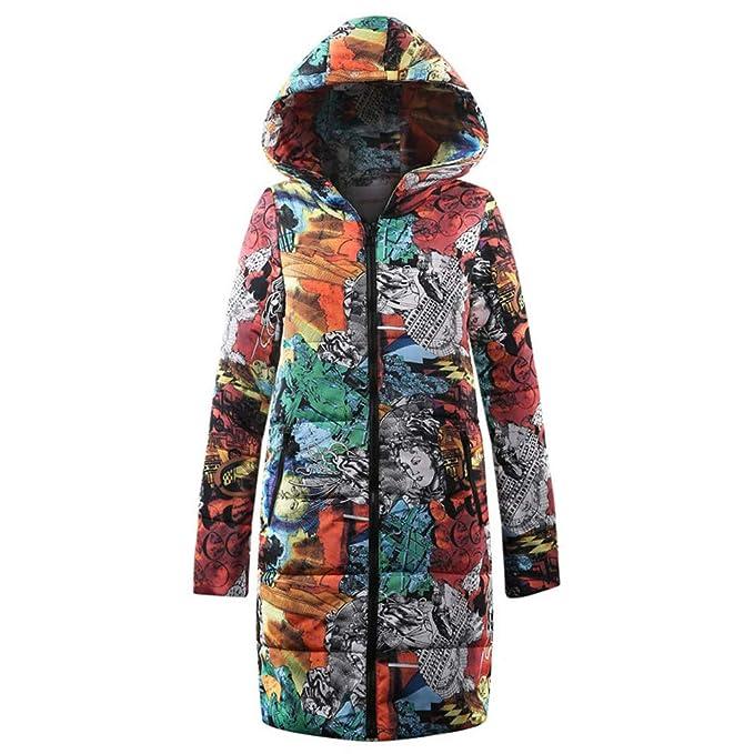 Vectry Rebajas Mujer Ropa De Abrigo Sudadera con Estampado De Grafiti Sudadera De Invierno Abrigo Estampado