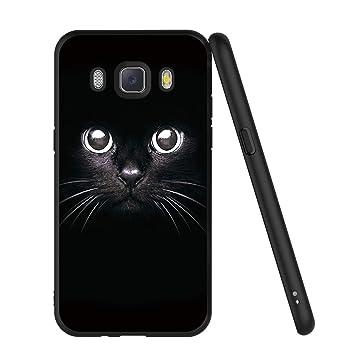 ZhuoFan Funda Samsung Galaxy J5 2016 Cárcasa Silicona Ultrafina Negra con Dibujos Diseño Suave TPU Gel Antigolpes de Protector Piel Case Cover Bumper ...