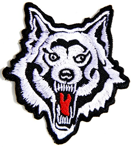 No Sew Indian Costume (Indian Feather Full Moon Lone Wolf Fox Dog Wild Animal Choppers Lady Rider Biker Tatoo Jacket T-shirt Patch Sew Iron on Embroidered Sign Badge Costume)