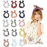 10pezzi Wire fascia multifunzione coniglietto orecchie di coniglio fascia per capelli Sweet multi-styles fascia per donna, colori assortiti
