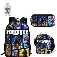 Fortnite School Backpack, Mochila para estudiantes College Bookbag Mochila de viaje Daypack Mochila informal con bandolera y bolsa de lápices para niñas adolescentes y mujeres (5)