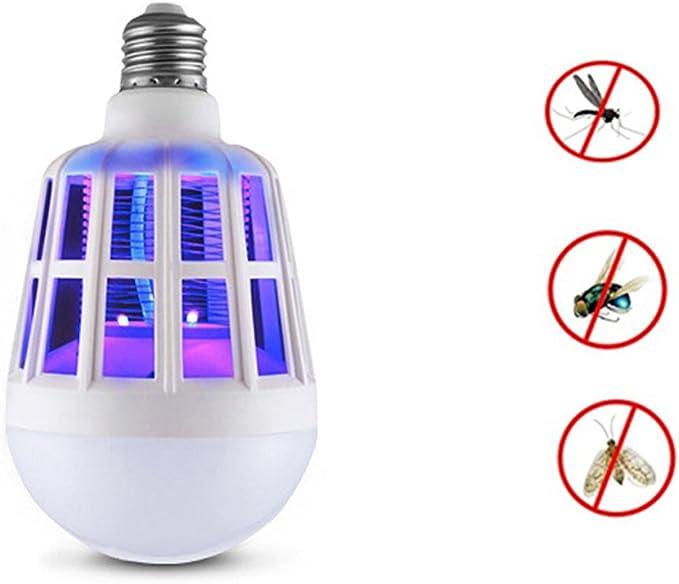 Bug Zapper ampoule, LED lampe de lumière répulsif anti-moustique pour  intérieur en plein air Camping Voyage maison jardin, E27,220V …