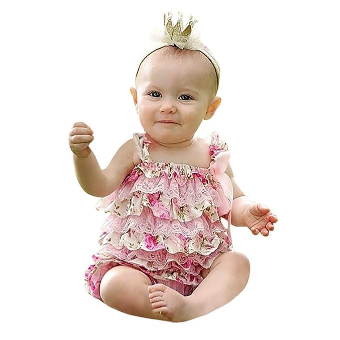 MAYOGO Ropa bebé Bautizo Ceremonia Mameluco Volantes Vestido ...