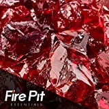 Marlboro Red Crushed Fire Glass 1/2''-3/4'' Firepit Glass 10 Pounds