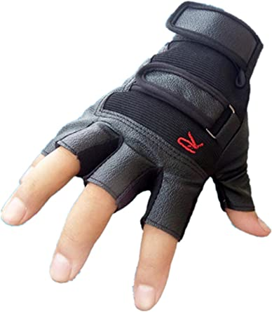 Men Training Tactical Outdoor Sports Bike Bicycle Half Finger Leather Gloves New
