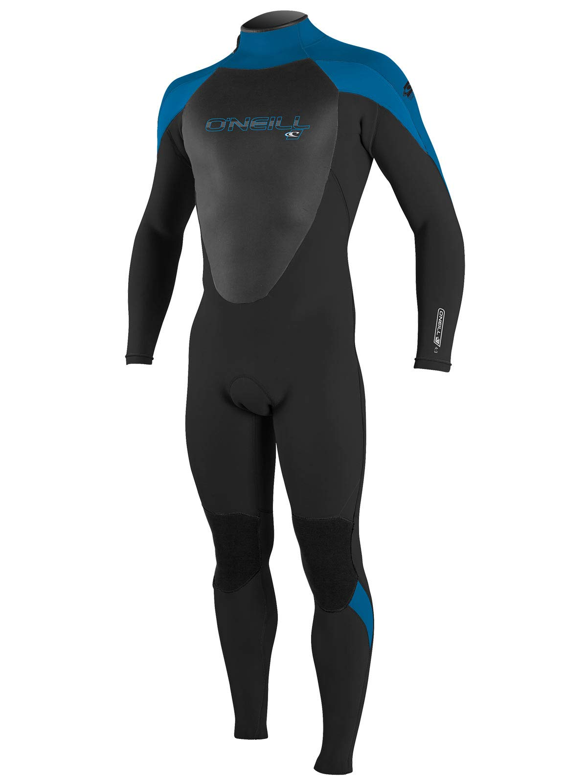 O'Neill Men's Epic 4/3mm Full Wetsuit LS Black/Ocean/Brite Blue (4212) by O'Neill Wetsuits