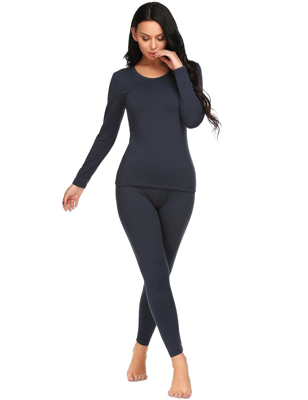 Pagacat Thermal Underwear 2 Pc Fleece Lined Women's Long Johns Warm Clothes Set S-XXL PAMK007967#