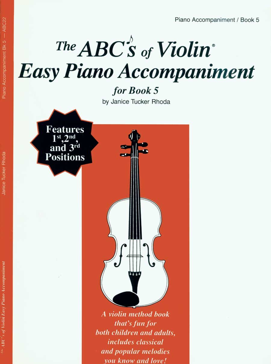 ABC22 - The ABCs of Violin Easy Piano Accompaniment for Book 5 pdf