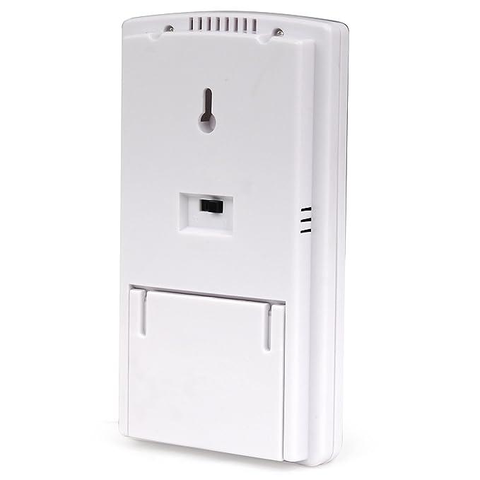 Digiflex Termómetro Digital para Interior y Exterior con 2 Sensores de Alarma para Tiempo y Temperatura - da: Amazon.es: Jardín