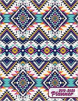 2019-2020 Planner: Cute Aztec Boho Tribal Daily Weekly ...