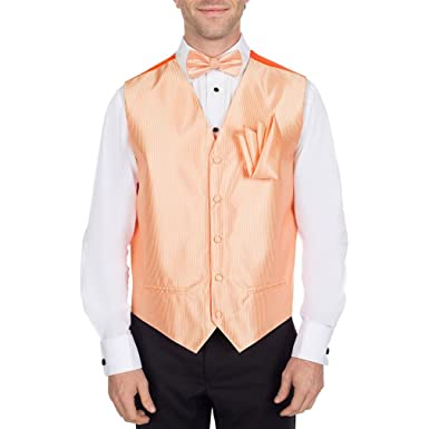 c5db0aa6bcdb Image Unavailable. Image not available for. Color: Peach Tuxedo Vest with Bow  Tie ...