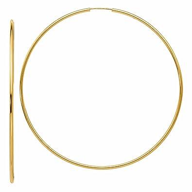 Amazon Extra Endless Hoop Earrings in 14K Gold 2 5 8
