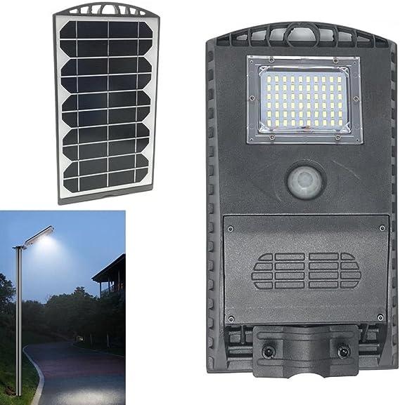 LAMPIONE STRADALE LED PANNELLO SOLARE FARETTO SENSORE Illuminazione Controllo