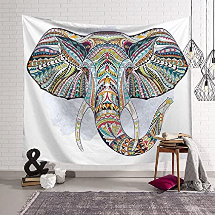 La India Yoga del Sudeste Asiático Elefante Mandala tapiz habitación infantil Dormitorio Salón Dormitorio colgando de