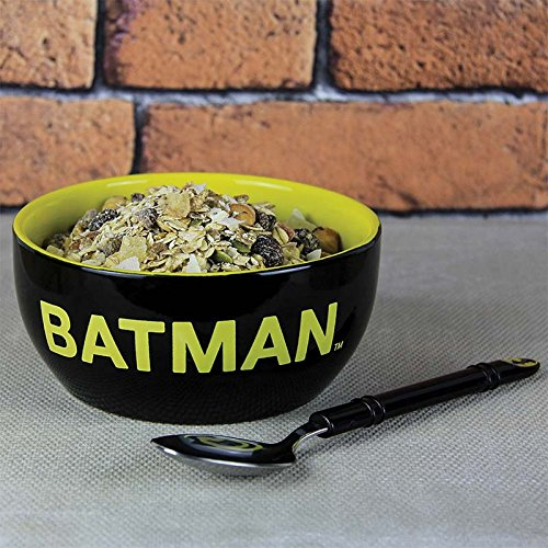 Paladone Classic Batman Cereal Bowl & Spoon - Ceramic Breakfast Set