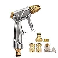 FANHAO Pistolet d'arrosage métal pour tuyau d'arrosage Pistolet pulvérisateur avec embout Laiton complet, Heavy Duty Spray Pulvérisateur à main, pelouse d'arrosage, lavage de voiture