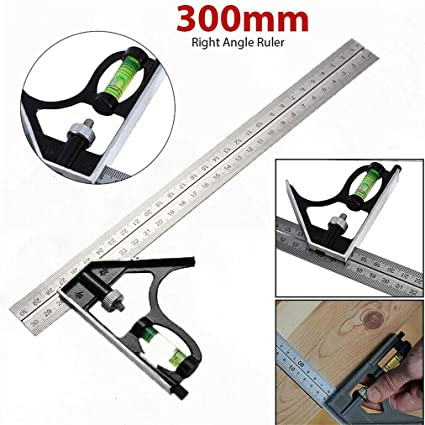 Combination Square 300mm Diy Tools Accurate Level W// 300mm Steel Blade