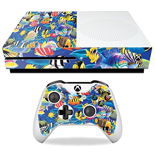 Price comparison product image Skin For Microsoft Xbox One S – Tropical Fish | MightySkins Protective, Durable, and Unique Vinyl Decal wrap cover | Easy To Apply, Remove, and Change Styles | Made in the USA
