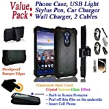 Value Pack + for 6'' ZTE Max XL / Blade X Max case Phone Case 360° Cover Screen Protector Belt Clip Crystal Holster Kick Stand Shock Bumper (Black)