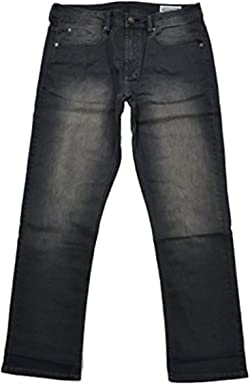 Buffalo David Bitton Mens Driven-X Basic Straight Stretch Jeans With Black Patch