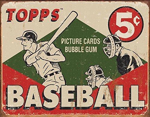 Unoopler Poster Topps - 1955 Baseball Box Tin Sign, 12x16