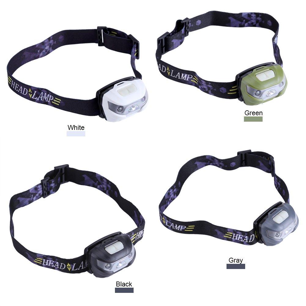 Verstellbare wasserdichte LED Scheinwerfer USB Ladekabel Haarband Taschenlampe f/ür Outdoor Angeln Camping Laufen Wandern Christmas Gifts