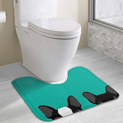 Amazoncom Poizyq French Bulldog Bathroom Rug U Shaped Bathroom
